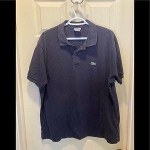Lacoste men's size 7 (2XL) navy polo shirt sleeve